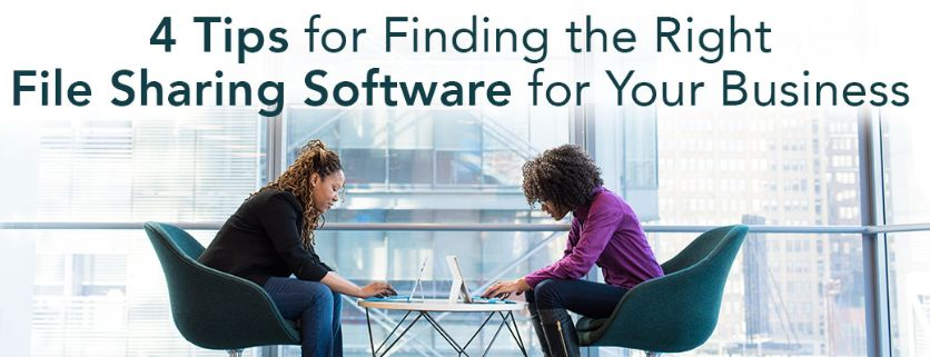 4 Tips for Finding the Right File Sharing Software for Your Business